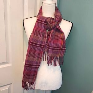 D&Y Softer Than Cashmere? Pink Plaid Scarf